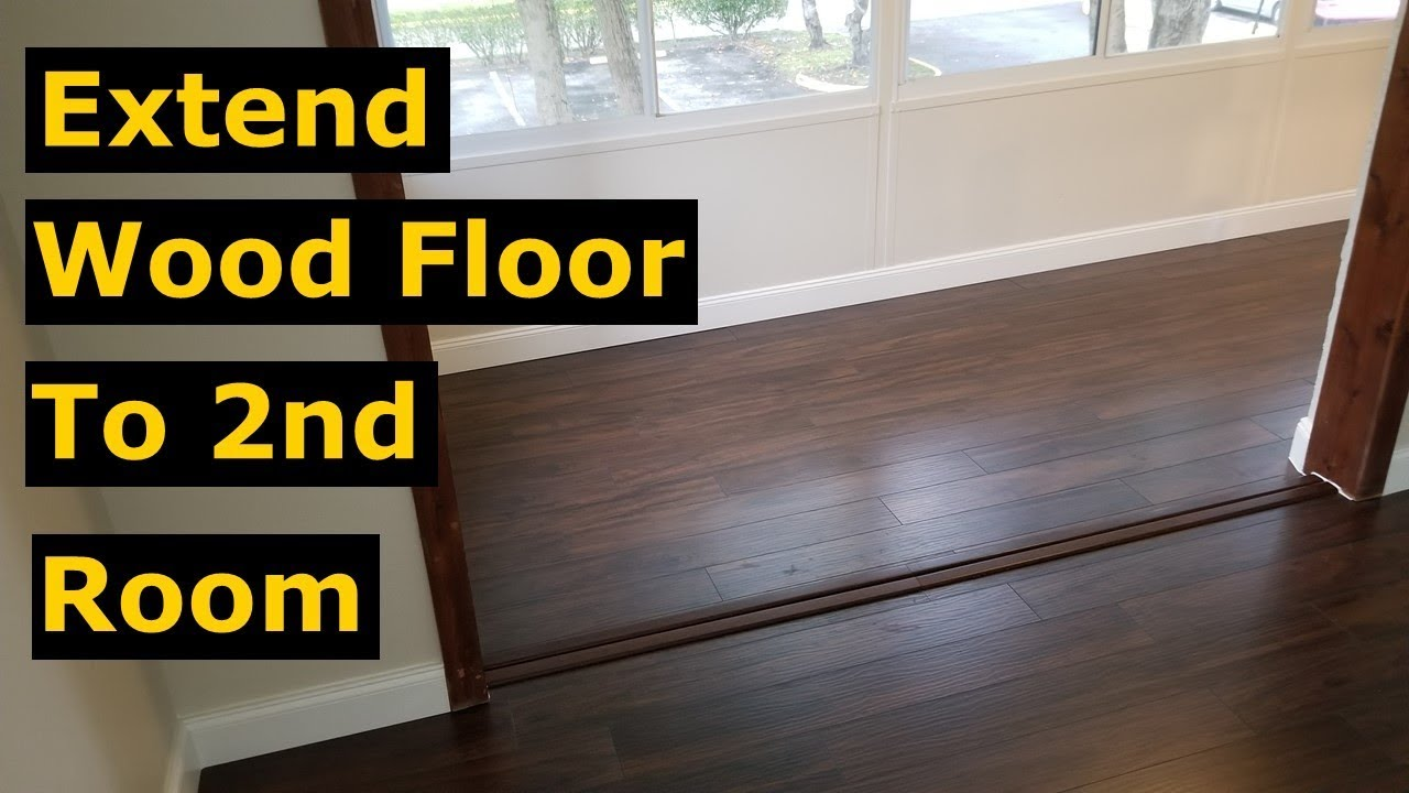How to Extend Laminate Wood Flooring To Another Room DIY Tips
