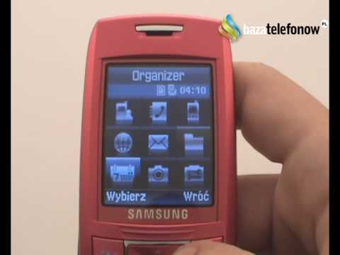 Prezentacja telefonu Samsung SGH-E250V