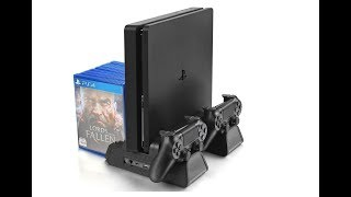 UNBOXING : Vertical Stand Cooling Fan With Game Storage & Dualshock Charger for PS4 Slim / PS4 Pro