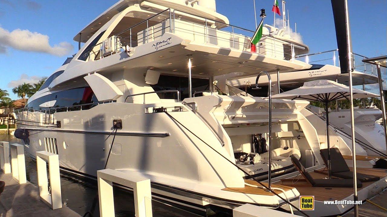 Fort Lauderdale Boat Show 2020.2020 Azimut Grande 30 Metri Luxury Yacht Walkaround Tour 2019 Fort Lauderdale Boat Show