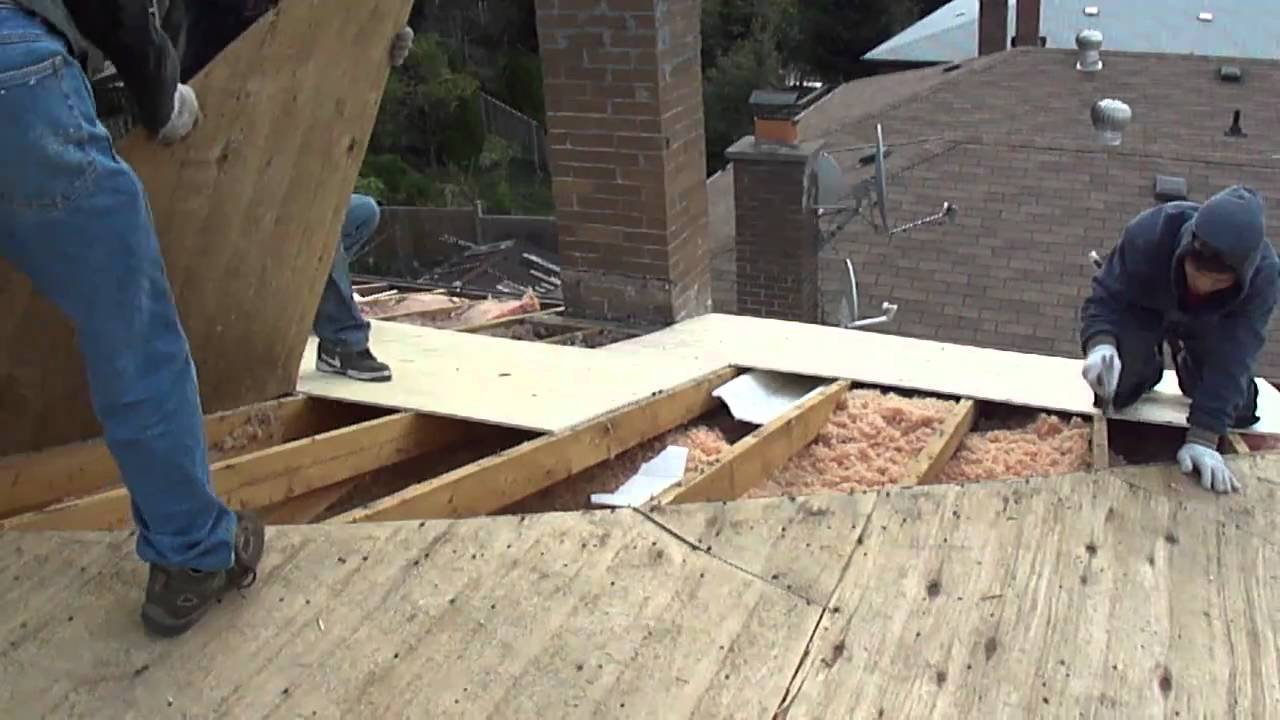 Roof Plywood Sheathing Youtube