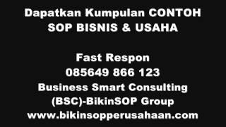 Contoh Sop Perusahaan-perusahaan Jasa,Marketing,Keuangan,Hrd,Restoran