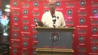 UNM Football: Coach Bob Davie Post-Game 09/01/12