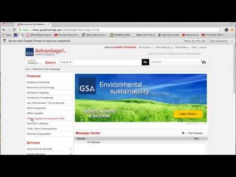 Federal Strategic Sourcing Initiative (FSSI) OS3 GSA Advantage Tutorial