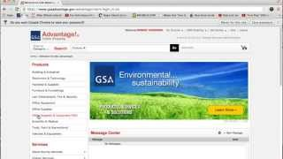 Federal Strategic Sourcing Initiative (FSSI) OS3 GSA Advantage Tutorial