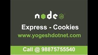 cookies in expressJS   cookie parser in node js   Hindi