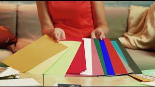 видео Картон цветной