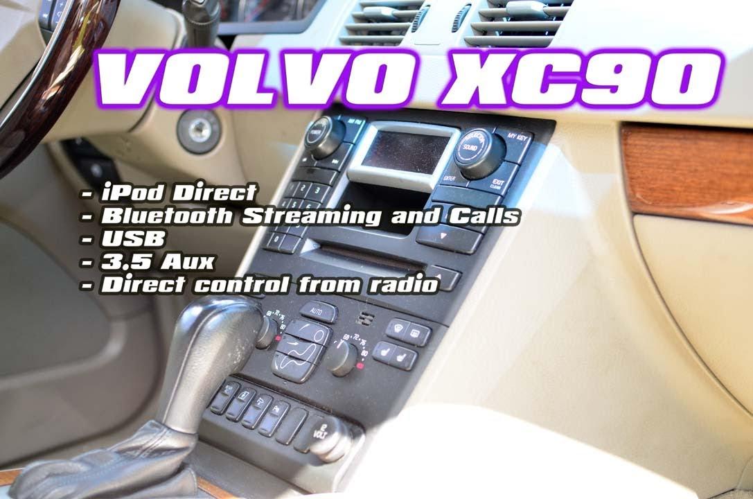 volvo xc90 ipod usb bluetooth aux interface by autotoys com \u0026 gromvolvo xc90 ipod usb bluetooth aux interface by autotoys com \u0026 grom (mst3)