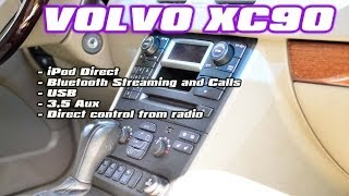 Volvo XC90 Radio removal and GROM-MST4 USB Android iPhone