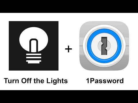 Turn Off the Lights iPhone app + 1Password