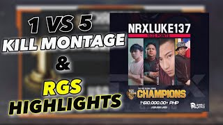 SAXY 1v5 Montage | Winning $12k in RGS N.A with NRXLuke137 Gameplay/Destroyed Pro teams in NA Server