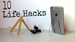 10 Ways to Make the Simplest Holder for iPhone - 10 iPhone Life Hacks