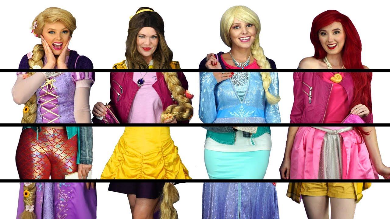 Download DISNEY PRINCESS CLOTHES SWITCH UP CHALLENGE WITH FROZEN ELSA, BELLE, ARIEL & RAPUNZEL. Totally TV
