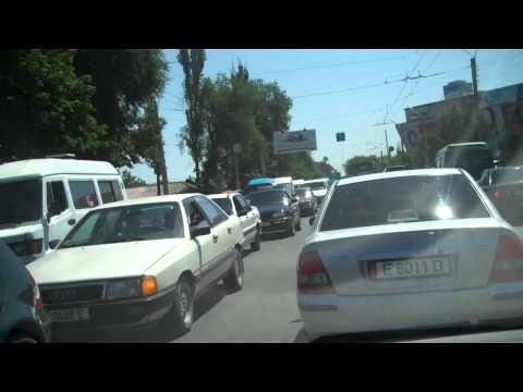 Driving in Bishkek Kyrgyzstan