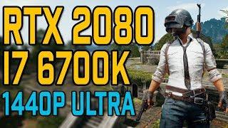 PUBG: Erangel | RTX 2080 & i7 6700K | 1440p Benchmark | Ultra