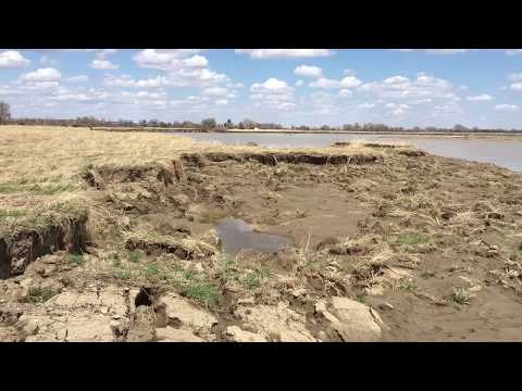 Scarry! Road Collapsed on the Yellowstone,River,   Elk Island Near Savage, Montana May 2, 2018