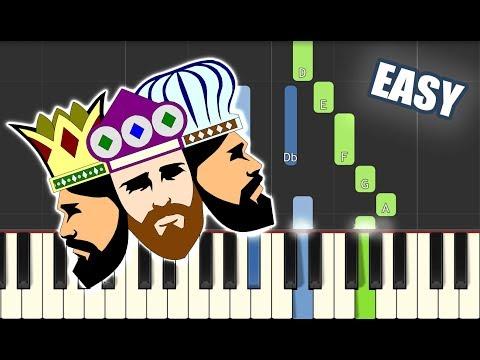 We Three Kings | EASY PIANO TUTORIAL by Betacustic