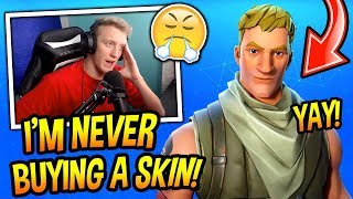 TFUE GETS *TRIGGERED* WHEN HIS FANS DEMAND HIM TO BUY A SKIN! DECIDES TO BE A DEFAULT SKIN FOREVER!