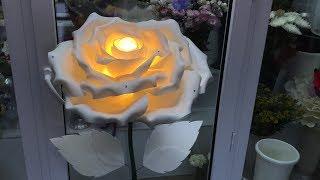 Роза из изолона своими руками для начинающих.