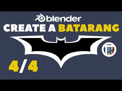 Blender 2.8 Tutorial - How to model a Batarang - 4 of 4