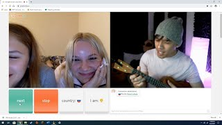 Singing LOVE SONGS to RUSSIAN GIRLS on Omegle   First Omegle Video