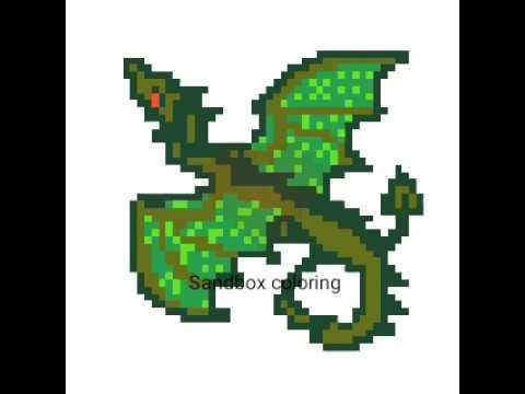 Comment Cree Un Dragon Vert Pixel Art 3 Youtube