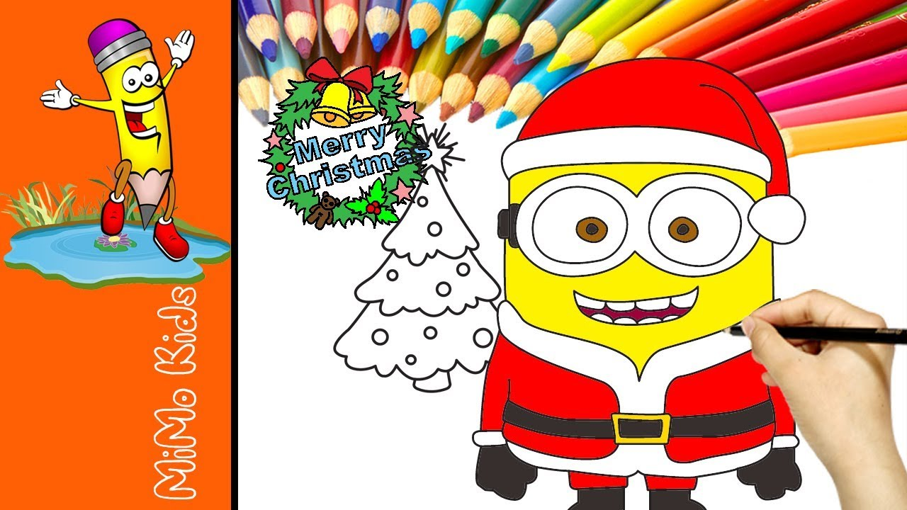 minions merry christmas 2017 minions christmas coloring pages for kids learn colors with minions