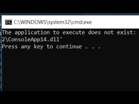 The Application To Execute Does Not Exist Error In Visual Studio