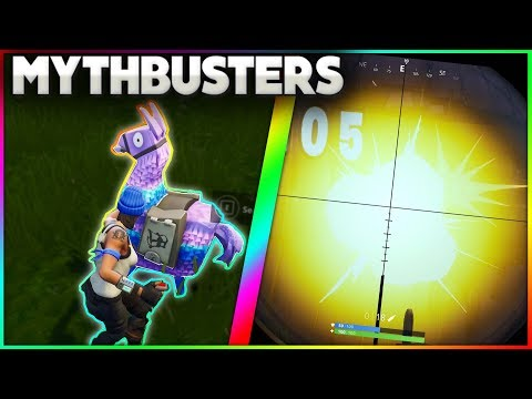 What Happens When You Put A C4 On A Supply Llama? | Dance While Rocket Riding | Fortnite Mythbusters