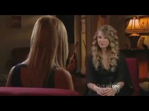 Taylor Swift CMA Awards 2009 - Forever and Always - throws chair.flv