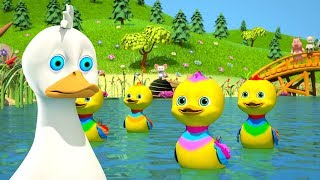 пять маленьких уток | детские стишки | детские стишки видео | детские песенки | Five Little Ducks