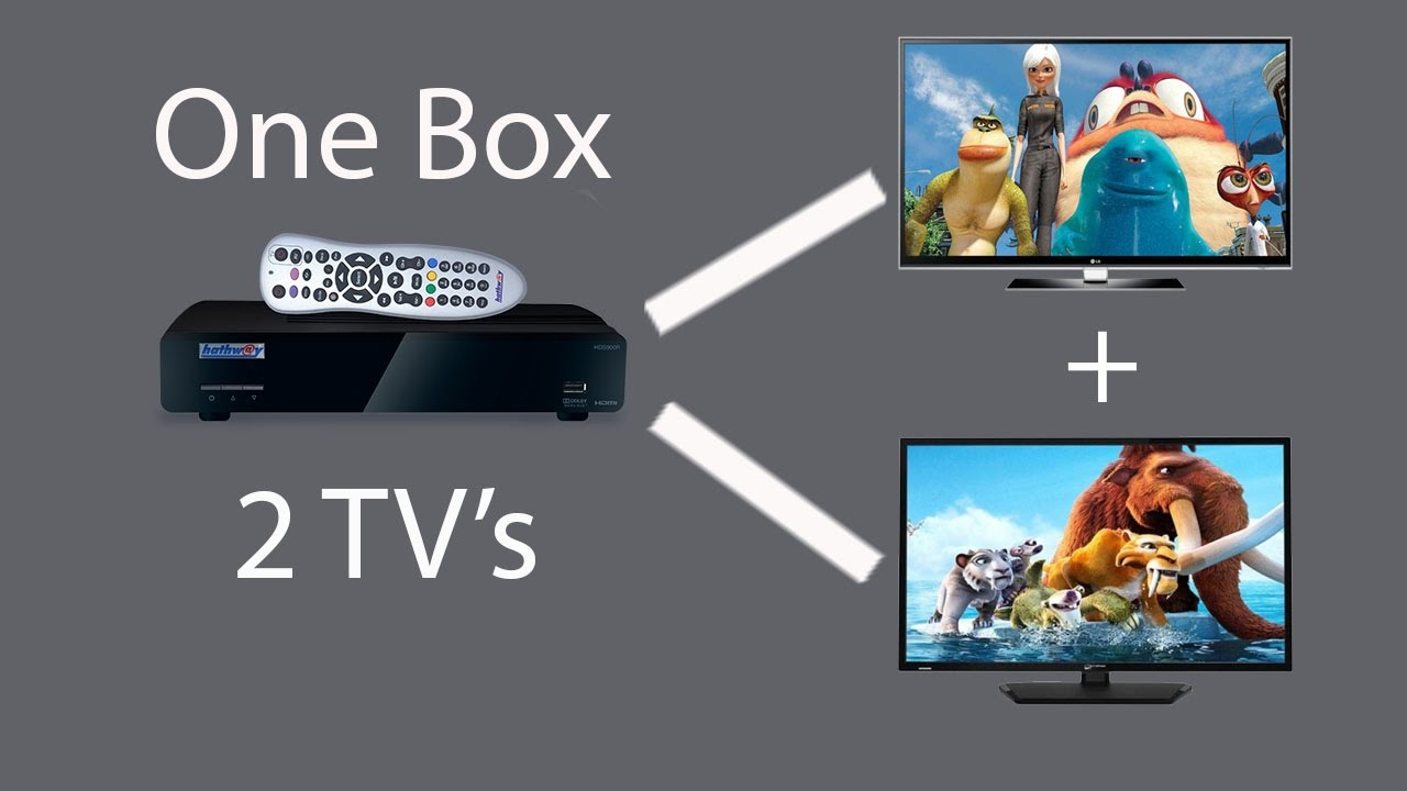Watch 2 TVs with one Set Top BoxUsing a single wire