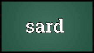 Sard Meaning