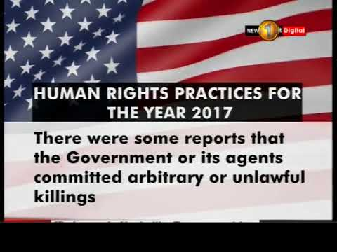 News 1st: USA issues country reports on Human Rights Practices for the year 2017