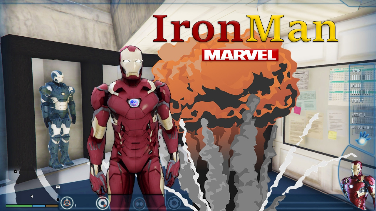 How To Install Iron Man Mod / With Tony Stark House Mark 46 Gta 5 mods