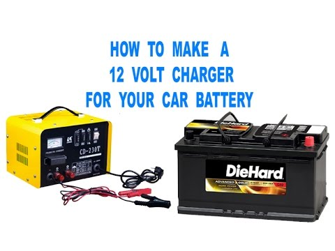 how to make a 12 volt charger for car battery youtube. Black Bedroom Furniture Sets. Home Design Ideas