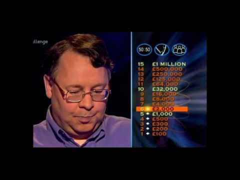 Who Wants to be a Millionaire Classic Reruns 3rd April 2004 Pat Gibson