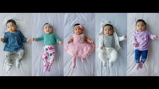 3 month old baby girl's LOOKBOOK ll Eliza Rehemat in 8 outfits