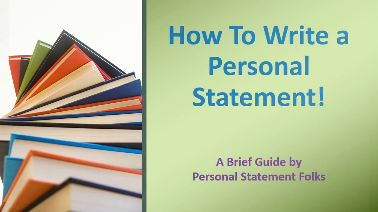 Help with a personal statement