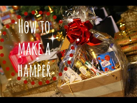 Christmas Hamper Basket.How To Make A Christmas Hamper