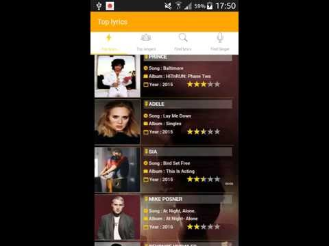 the best app  to find song lyrics
