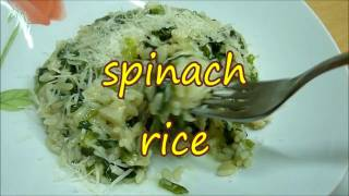 RICE WITH SPINACH CASSEROLE RECIPE. RISOTTO BEST AND HELTHY Italian Food. #rice