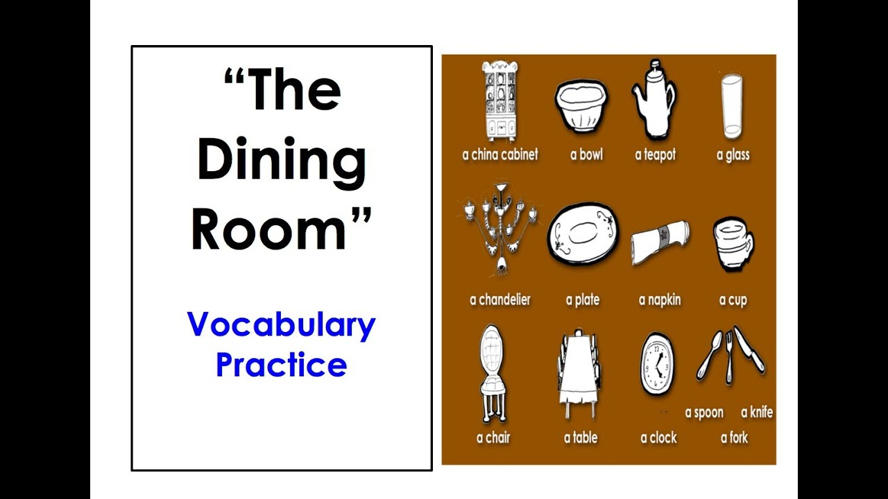 Learn Dining Room Vocabulary Easy English Conversation Practice