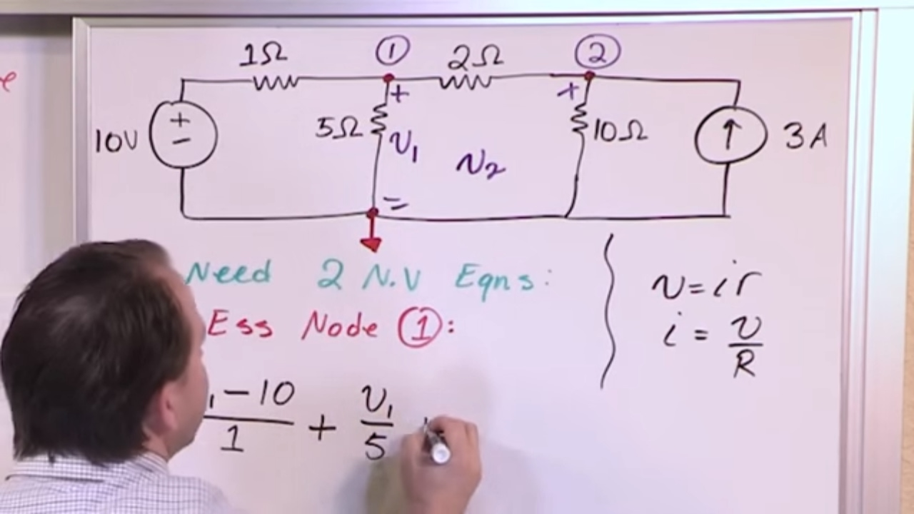 Lesson 1 Intro To Node Voltage Method Engineering Circuits Youtube Learning About Circuit