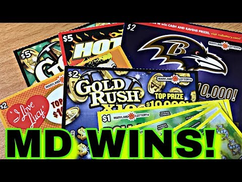 MARYLAND TICKETS FOR THE WIN! $20 Mix Of Maryland Lottery Tickets
