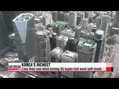 Report finds richest people in Korea