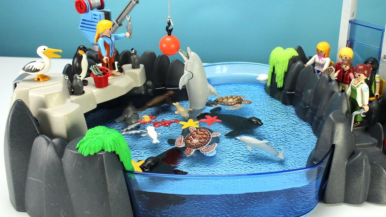 Playmobil Dolphin Aquarium Playset With Sea Animals Fun