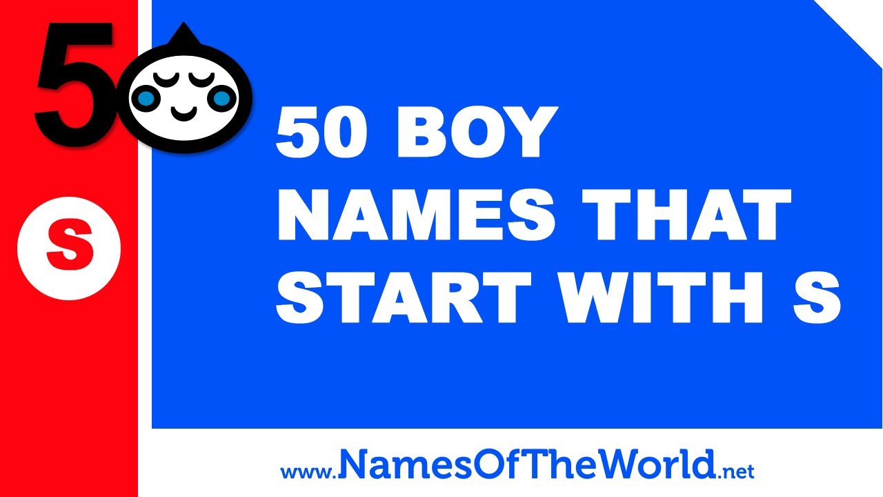 50 Boy Names That Start With S