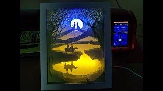 skycut vinyl cutter DIY paper light