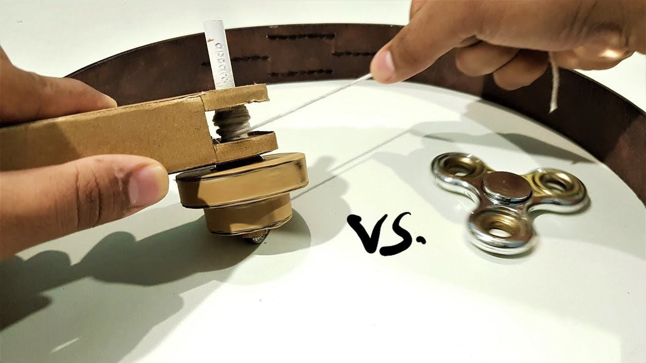 How To Make A Beyblade  Heavy  From Cardboard At Home   Beyblade Vs Fidget Spinner